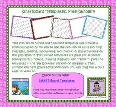 FREEBIE SMART Board Templates use for morning messages and more!