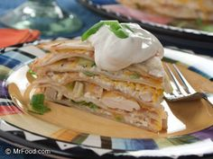 Chicken Tortilla Cake | mrfood.com