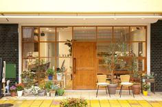 Cafe Shop Design, Cafe Interior Design, Store Design, Interior Architecture, Loft Interiors, Shop Interiors, Cafe Exterior, Interior And Exterior, Ceramic Cafe
