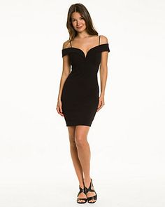Woven Off-the-Shoulder Cocktail Dress