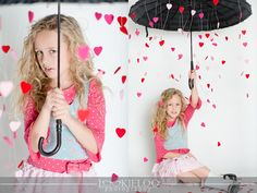 Rain Or Shine...  cute prop idea.  Child Photography / Photo Session Ideas / Valentine's Day