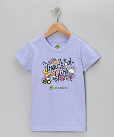 Take a look at this Purple 'Tractor Girl' Tee - Girls by John Deere on #zulily today!
