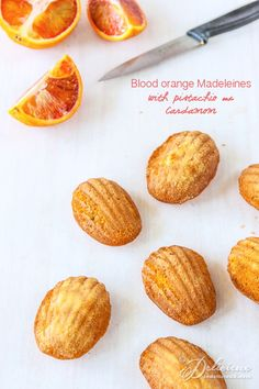 Blood Orange Madeleines with pistachio and cardamom recipe | Get the recipe at ledelicieux.com