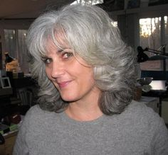 Gray and Silver hair.