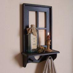 Primitive Window Shelf Gathering / Lamp Black / Old by Sawdusty, $45.00