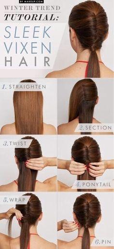 Winter Hairstyles Trends: Sleek Viaen Hair Tutorial