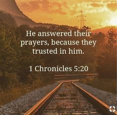 1 Chronicles 5:20