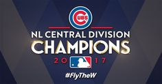 The Chicago Cubs are the 2017 NL Central Division champions for the second year in a row! They'll continue their quest to defend their Mlb Team Logos, Mlb Teams, Sports Teams, Mlb Postseason, Basketball Scoreboard, Basketball Court, Cubs Win, Base Ball, Go Cubs Go