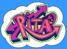 learn to draw graffiti names RITA