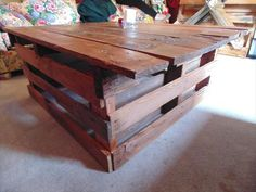 Box Coffee Table Get yours today! makeitpalletability@gmail.com