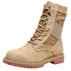e7c9a54dd9a18 rismart Women's Mid-Calf Military Goth Round Toe Motorcycle Boots: Amazon.co .
