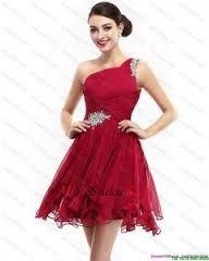 Resultado de imagen para vestidos largos color vino de un hombro