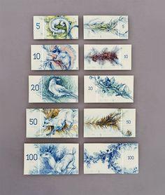 hungarian-banknote-design-by-barbara-bernát-4 Billetes con dibujos de animales