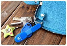 The chargekey chain fits neatly onto your purse and works as a charge & sync cable whenever you need it.