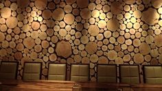 interior logs for walls | ... wall, by Barnwood Naturals , was created using timber round end cuts