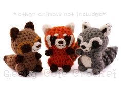 Red Panda Amigurumi Crocheted Plush Toy Kawaii by GeekyCuteCrochet