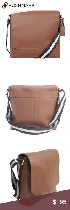 """Coach Men's Charles Messenger Leather Crossbody item# 273137218133  100% Authentic Coach!  Buy with confidence!  • MSRP: $375.00  • Style: F72362  Features:  • Sport calf leather  • Inside zip, cell phone and multifunction pockets  • Inside tech sleeve  • Flap closure, fabric lining  • Outside zip and open pockets  • Adjustable strap with 53"""" drop for shoulder or crossbody wear  • 11"""" (L) x 10 3/4"""" (H) x 3 1/4"""" (W)  Please feel free to ask any questions. Happy shopping! Coach Bags"""