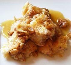 Tierney Tavern: Pecan Bread Pudding with Vanilla Sauce