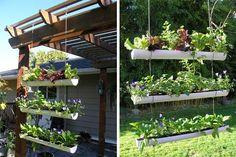 jardim com cano de pvc