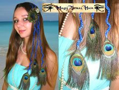 Braided Hair Extension with Peack Feathers