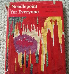 Needlepoint for Everyone Vintage Book by Picken and White.  The cover is so . . . inspiring