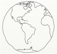Image result for line drawing globe