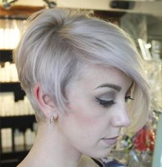 Long Pixie With Side Bangs