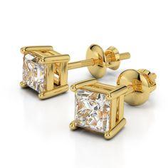 Diamantohrstecker mit 1.00 Karat Diamanten im Prinzessschliff. Die Diamanten haben die Reinheit SI1 und die Farbe F-G (weiß). Diese Diamantohrstecker sind für nur 2499.00 Euro bei www.juwelierhausabt.de erhältlich.
