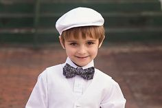 Little Malcolms White Linen Vest and Bow Tie..Clothes for Boys..Toddler Boy #BestofEtsy #christmas