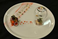 Carrots with onion and smoked scallop