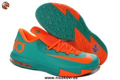 timeless design bdbe5 7a6dd 599424-040 Womens Nike Zoom KD 6 Blue Orange Factory Outlet Kevin Durant  Shoes,