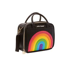 CHOW BELLA RAINBOW LUNCH TOTE: Betsey Johnson Window Shopper, Rainbow Fashion, Lunch Tote, Over The Rainbow, Chow Chow, Betsey Johnson, Purses And Bags, My Style, Accessories