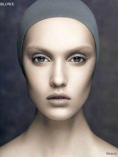 Ètranger – by Ruo Bing Li for Blowe Magazine Nude Makeup, Highlighter Makeup, Beauty Makeup, Hair Makeup, Makeup Photography, Fashion Photography, Portrait Photography, Futuristic Makeup, Unique Makeup