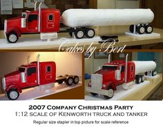 Kenworth truck and tanker trailer - Company Christmas party