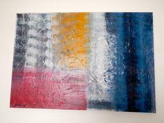 Acrilico e carta su tela formato 100x70