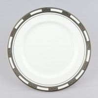 Empress White Platinum Dinner Plate 10.5