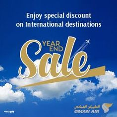 New Offers and Deals: Economy Class Flights DEALS on Oman Air   BOOK NOW  Book and enjoy the special fare on economy class from Cairo to Bangkok Jakarta Kuala Lumpur Manila and Guangzhou.  Terms and Conditions:  Ticket sales from 19th January 2018 to 31st March 2018.  Valid for outbound travel period from 19th January 2018 to 30th April 2018.  Offer is applicable on the Economy class base fare. Taxes & surcharges are included.  Offer is applicable from Cairo only.  Offer is applicable to