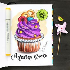 Copic Marker Art, Marker Kunst, Copic Art, Sketch Markers, Copic Markers, Colorful Drawings, Easy Drawings, Copic Kunst, Cupcake Drawing