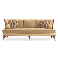 : Caracole Upholstery Dimensions: x x Seat Height: 21 Arm Height: Features: Seat Width: Seat Depth: Caracole Furniture, Furniture Upholstery, French Sofa, Unique Sofas, Modern Contemporary Homes, Upholstered Sofa, Best Sofa, Leather Sofa, Soft Furnishings
