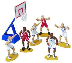 WILTON CUPCAKE AND CAKE TOPPER 7PC BASKETBALL CAKE DEC 21132237 -- For more information, visit image link.  This link participates in Amazon Service LLC Associates Program, a program designed to let participant earn advertising fees by advertising and linking to Amazon.com.