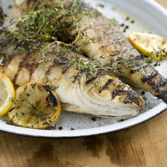 Whole Bronzini, Mediterranean-Style -- a simple and delicious way to showcase your fresh catch on the grill.