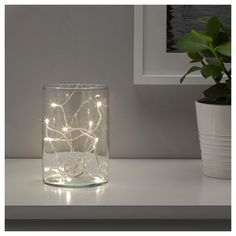 LEDFYR LED string light with 24 lights, indoor silver color. Gives a nice decorative light. Uses LEDs, which consume up to less energy and last 20 times longer than incandescent bulbs.