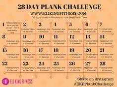 28 Day Plank Challenge — Eli King Fitness