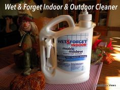 "Wet & Forget the ""work smarter not harder"" cleaning solution. Spray and walk away. #Shower #Outdoor #Mold #Algae #Mildew Cleaner #WetandForget"