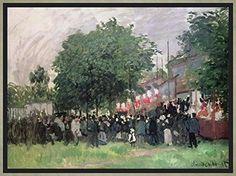 Fete At Argenteuil Artwork By Claude Oscar Monet Oil Painting & Art Prints On Canvas For Sale Claude Monet, Pierre Auguste Renoir, Monet Paintings, Landscape Paintings, Bastille, Portraits, Impressionist Paintings, Oil Painting Reproductions, Oscars