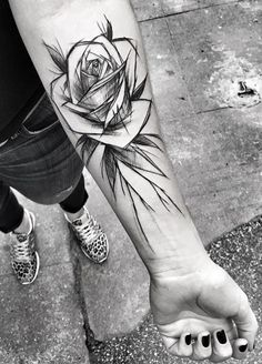 Inez Janiak rose tattoo