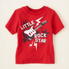 baby boy - graphic tees - rock star graphic tee | Children's Clothing | Kids Clothes | The Children's Place
