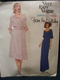 1970s Vogue American Designer Diane Von Furstenberg by kinseysue