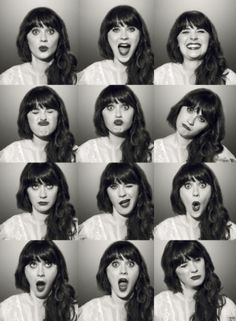 zooey deschanel-- Would love to do a pose poster for each member of my family maybe all mixed up for a wall in my house. . .