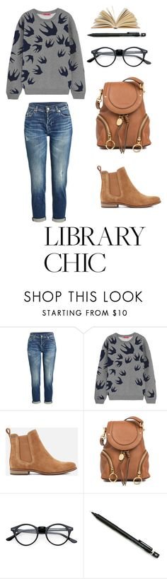 """""""Work Hard, Play Hard: Finals Season"""" by menoly ❤ liked on Polyvore featuring 7 For All Mankind, McQ by Alexander McQueen, Superdry, See by Chloé, Pentel and finals"""